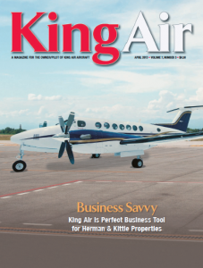 King Air magazine cover article by freelance aviation writer Melinda Schnyder