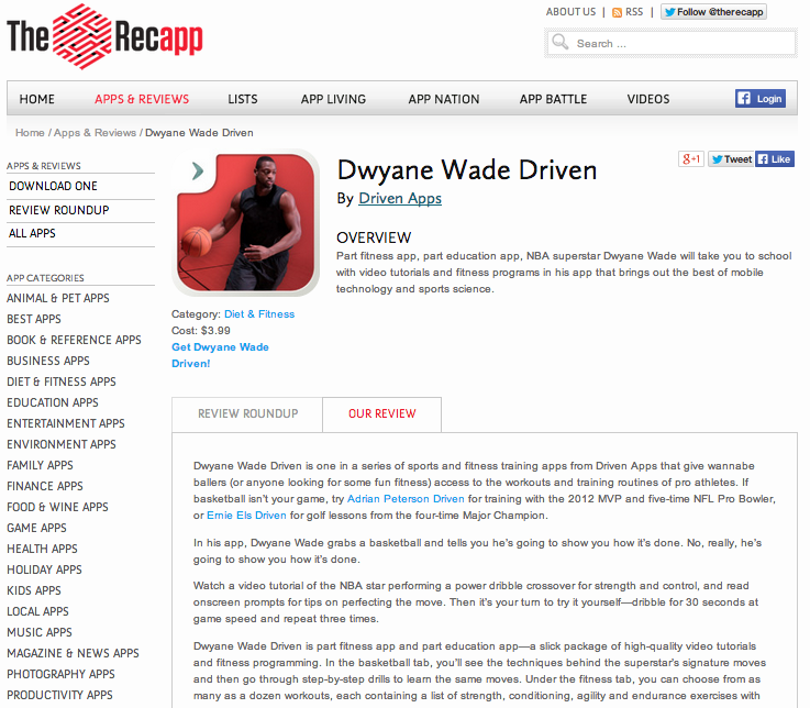 Recapp_Dwyane Wade review
