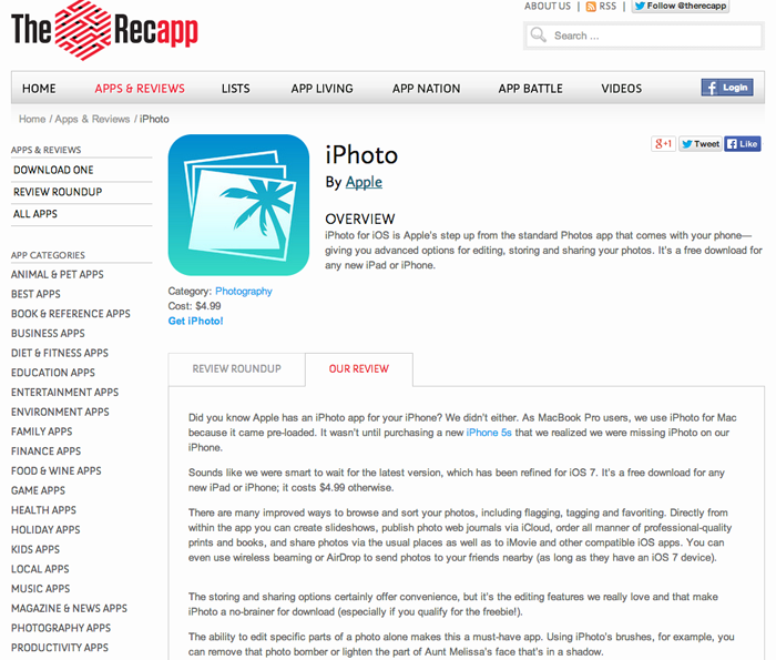 Recapp_iphoto review screen shot
