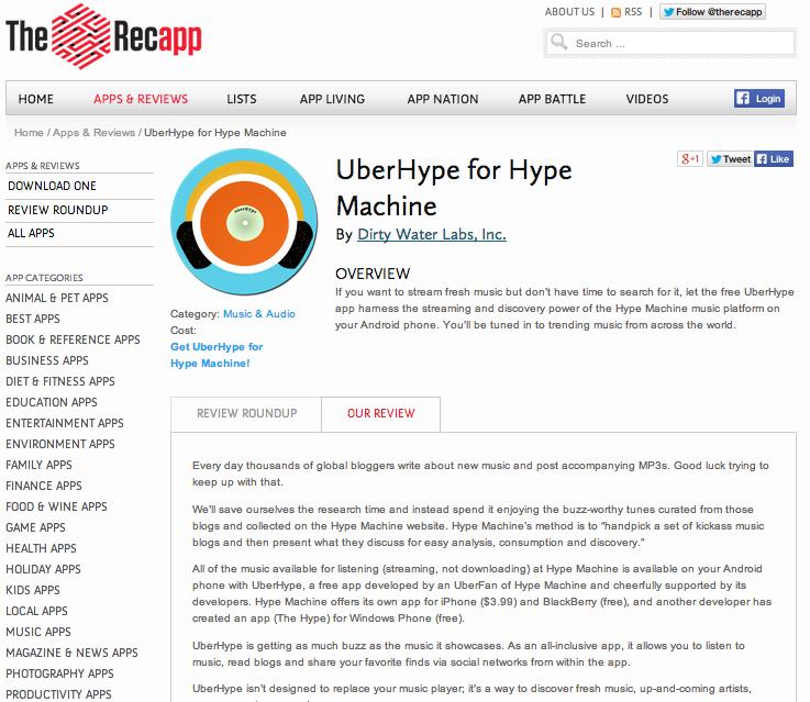 recapp_uberhype Screen Shot