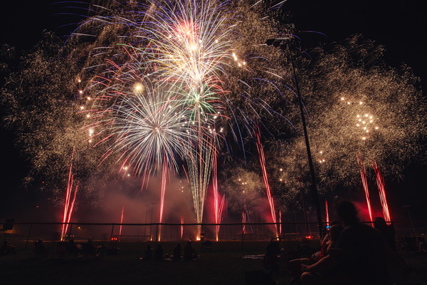 Fourth of July fireworks show in Wamego, Kan. (photo courtesy visitwamego.com)