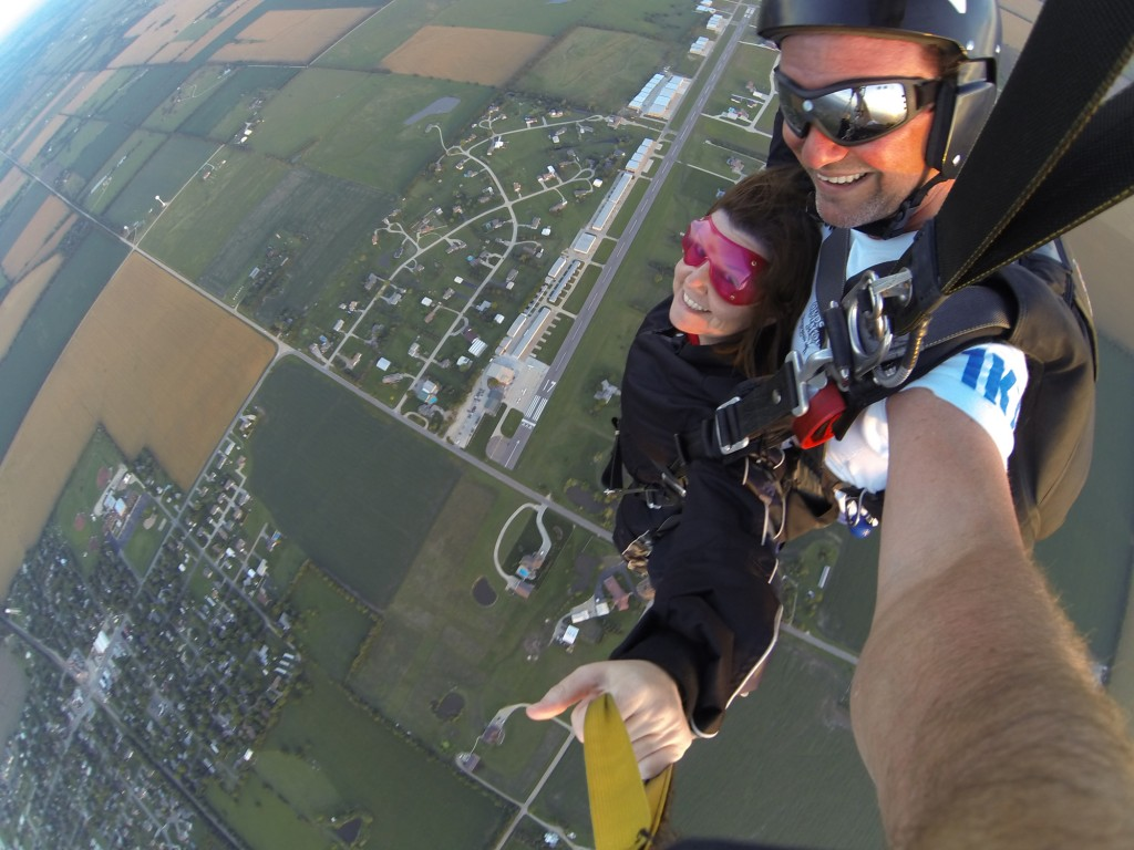 Me skydiving at Stearman Field with Gypsy Moths just outside Wichita, Kansas.