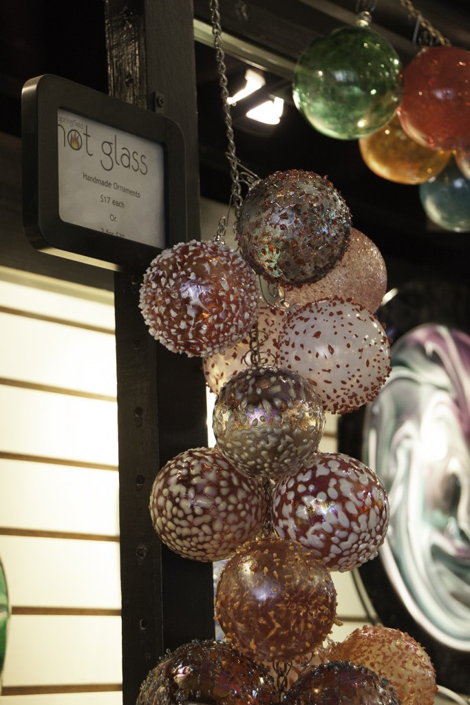 I captured this image of their famous hand-blown ornaments when I visited Springfield Hot Glass in Springfield, Missouri.