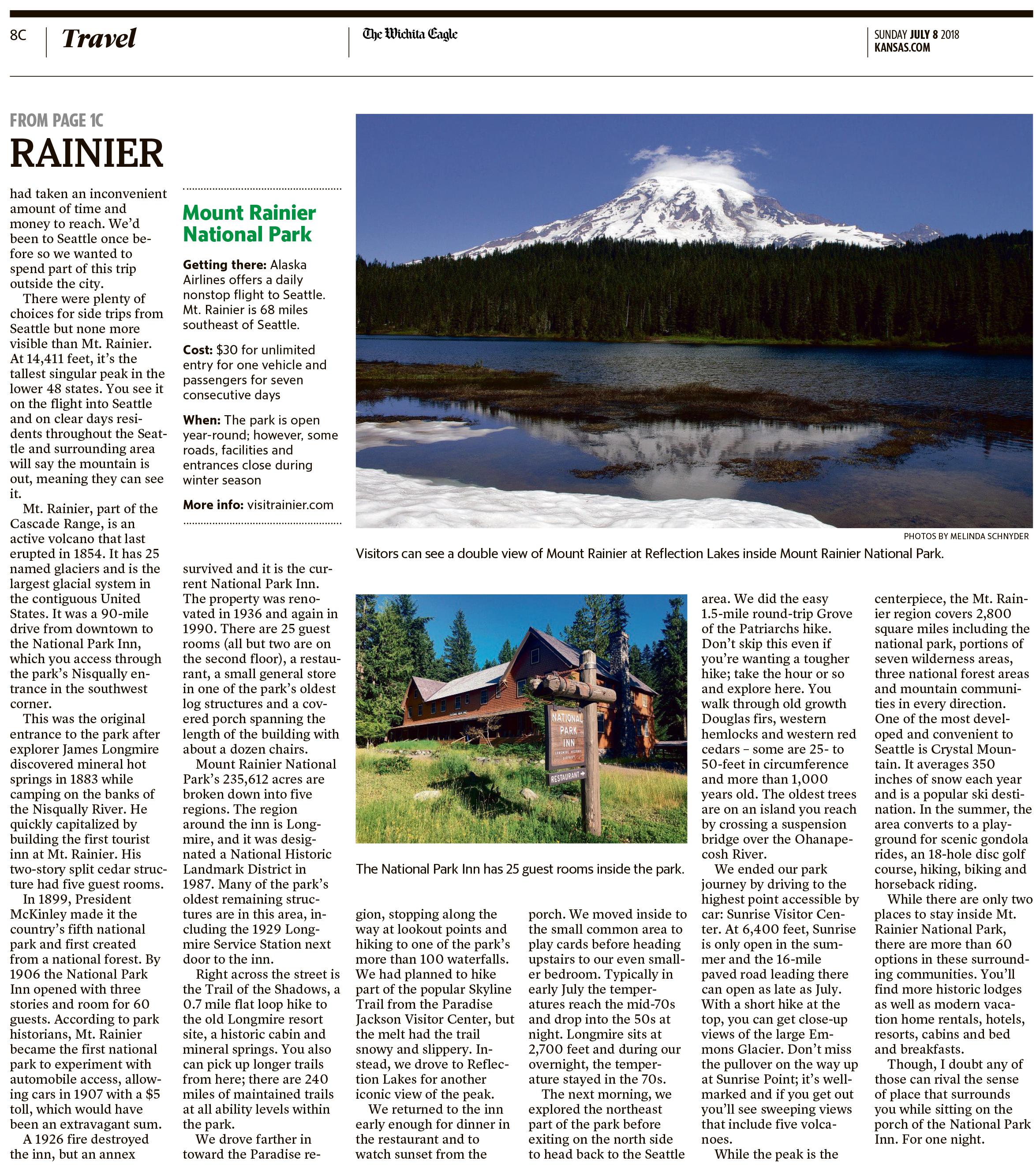 Travel Writing: Travel Writing :: Mount Rainier National Park